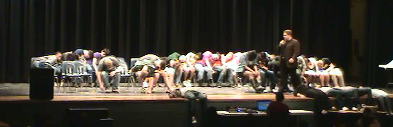 Comedy Hypnosis Shows during school assembly